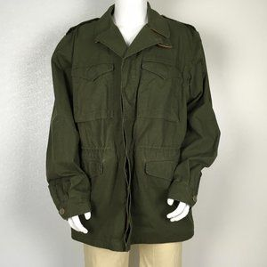 GUCCI MAN COATED PARKA MILITARY GREEN SIZE XXL